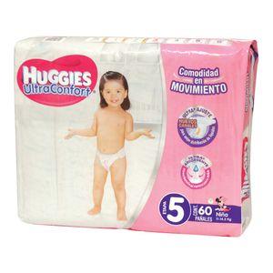 PaÑAl P/Bebe  Et-5 NiÑA Ultra Confort  Huggies  60.0 - Pza