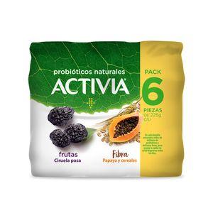 Yoghurt Bebible  Ciruela Papaya  Activia  6.0 - Pack