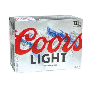 Cerveza Lata  Light  Coors  12.0 - Pack