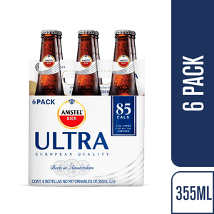 Cerveza  Botella Ultra  Amstel  6.0 - Pack