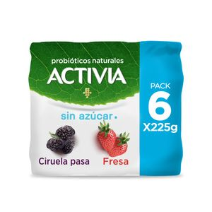 Yoghurt  Fresa/Ciruela  Activia  6.0 - Pack