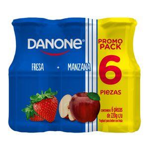 Yoghurt Bebible  Fresa Manzana  Danone  6.0 - Pack